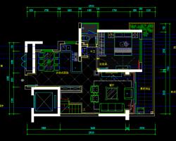 二层别墅室内装修施工图纸(含效果图)