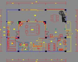 三层住宅样板间室内装修施工图纸(含效果图)