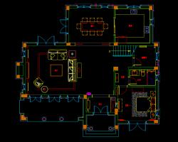 254�O别墅样板房室内装修施工图纸(含效果图)