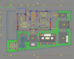 530�O四层别墅样板房室内装修施工图纸(含效果图)