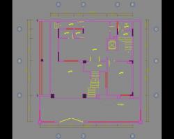 四层别墅室内装修施工图纸(含效果图)