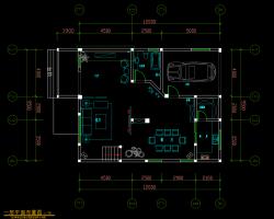 两层别墅室内装修施工图纸(含效果图)