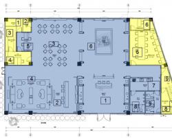457�O二层售楼处装修施工图纸(含效果图)
