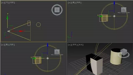 3dmax技巧:聚光灯的创建及调整方式