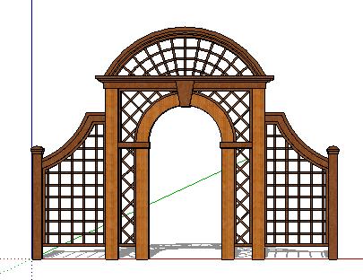 一楼院门设计效果图