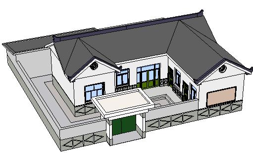 农村住宅建筑sketchup模型