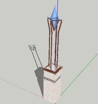雕塑SketchUp模型