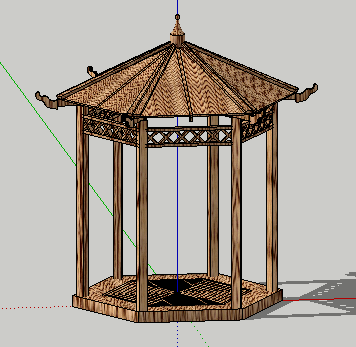 凉亭SketchUp模型