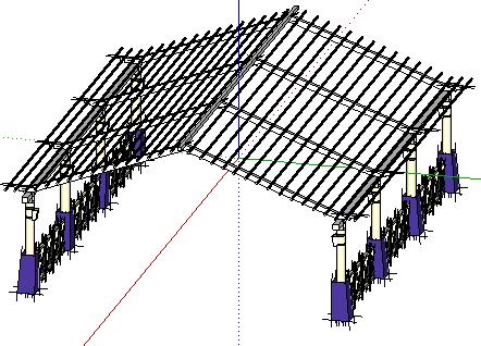 廊架SketchUp模型