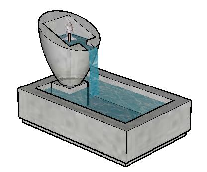 喷泉景观SketchUp模型