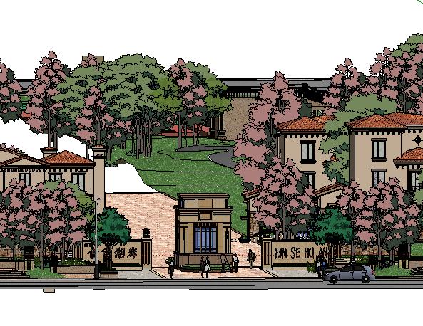 住宅区景观SketchUp模型
