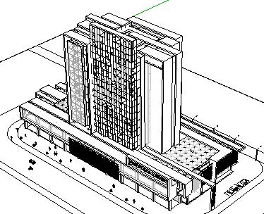 sketchup 城市手绘