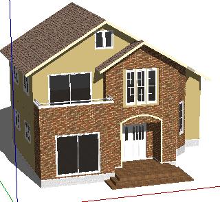 二层别墅SketchUp模型
