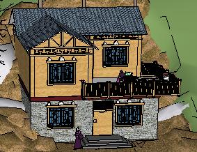 羌式二层别墅SketchUp模型
