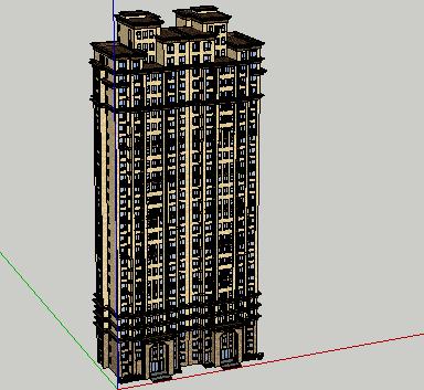 高层住宅楼SketchUp模型