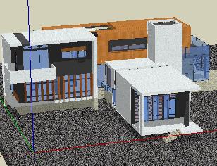 二层展览馆SketchUp模型