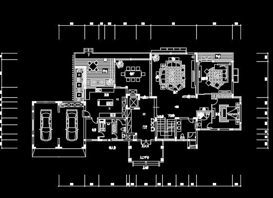 二层别墅装修设计图纸(含效果图)