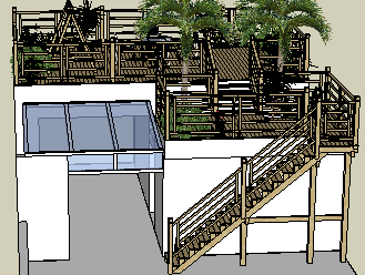 楼梯SketchUp模型