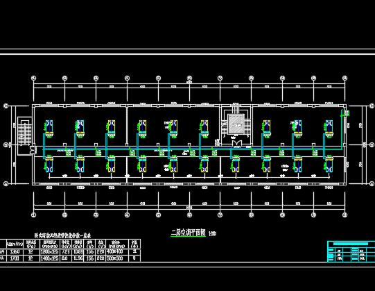 建材商场中央空调设计图纸