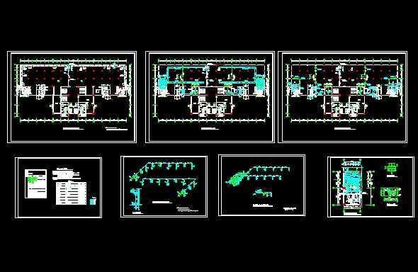 圖紙包括人防通風設計與說明、設備表、圖例、人防地下室平時通風.排煙平面圖、人防地下室戰時通風平面圖、人防地下室風管預埋管.留洞平面圖、人防地下室平時通風.排煙系統圖 A-A剖面圖、人防地下室戰時通風系統圖、人防地下室戰時機房平面圖、管道穿密閉墻大樣圖等