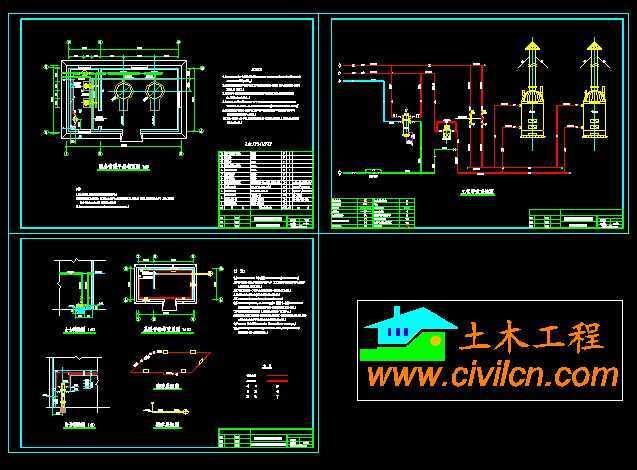 常压锅炉房采暖设计图
