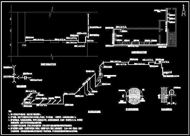 食堂燃气管道布置平面图