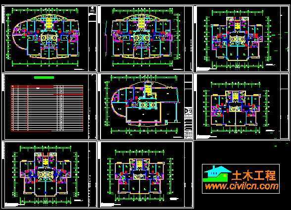 单元楼空调平面设计