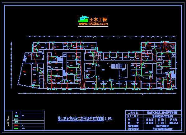 ktv中央空调设计图免费下载 - 暖通图纸 - 土木工程网图片