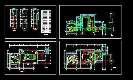 热电站主厂房布置平面图