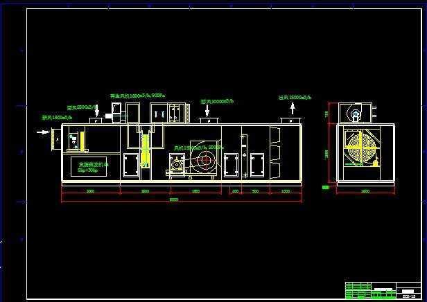 组合式转轮除湿机组设计