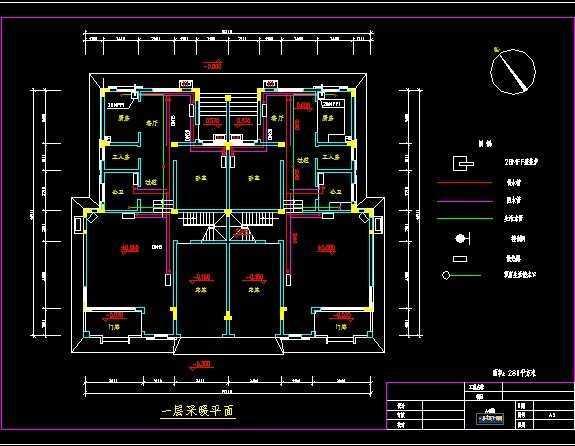 别墅户式采暖施工图