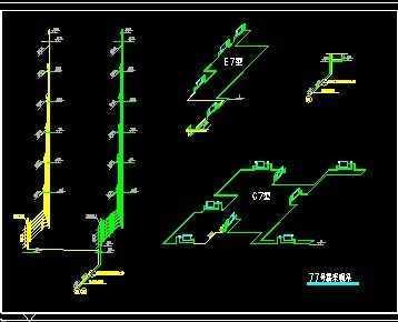 6+1住宅散热器采暖施工平面图和系统图说明书