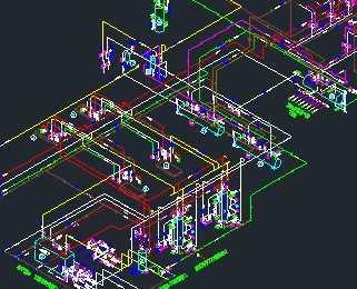大型氨制冷冷库工程设计图图片