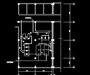 电梯机房平面布置图_某酒店制冷机房平面布置图免费下载 - 暖通图纸 - 土木工程网