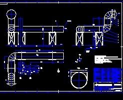 连铸机蒸排风机管道安装施工图免费下载 - 暖通图纸