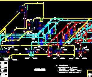 热泵机房管道工艺系统图