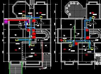 某别墅空调设计平面图免费下载 暖通图纸