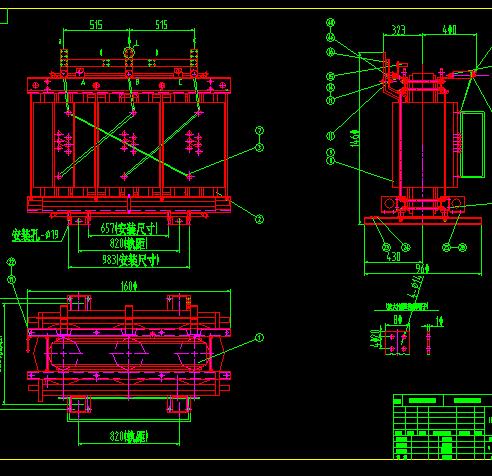 10kv干式变压器电气总装配图