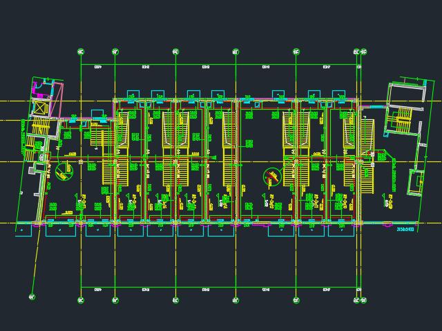某商住楼暖通平面设计图