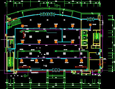 某生产楼通风空调设计图
