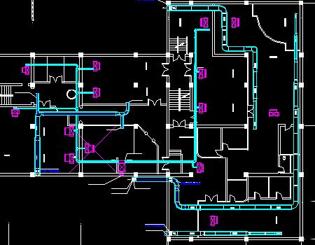 桑拿洗浴中心中央空调工程设计图