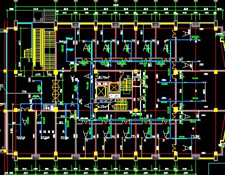 酒店暖通空调通风系统设计施工图(机房设计)