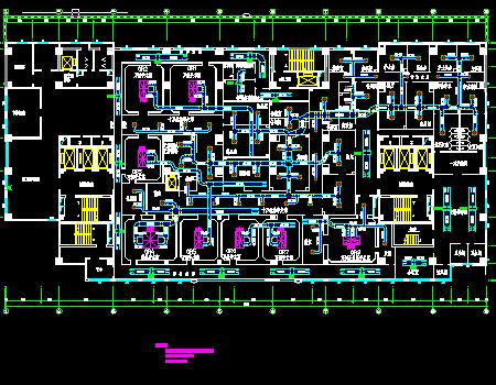 手术室洁净空调系统设计施工图(含建筑电水)