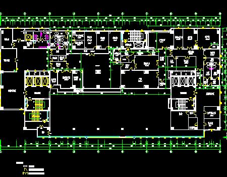医院科室净化工程施工图(含结构水电暖)