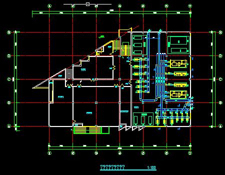 大型制冷机房及冷却塔设计施工图
