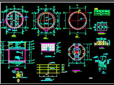 集水井泵房结构设计图纸