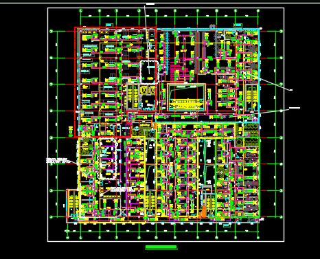 医院综合门诊楼VRV空调系统图纸