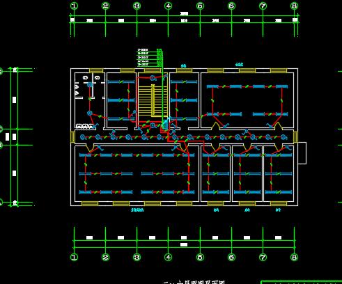 六层办公楼照明设计图纸