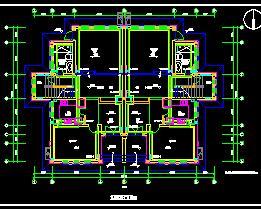 二层双拼别墅暖通施工图纸
