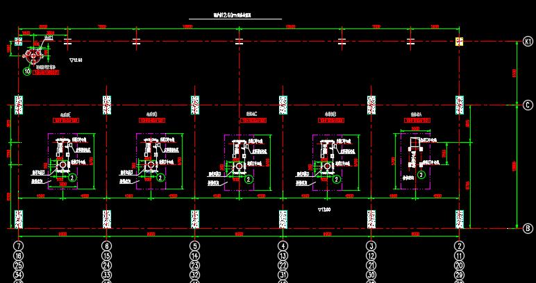 锅炉房辅助设备施工图纸